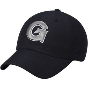 Georgetown Mens Baseball Hat Snapback Navy Blue